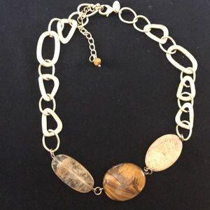 Lia Sophia 3-Stone Necklace